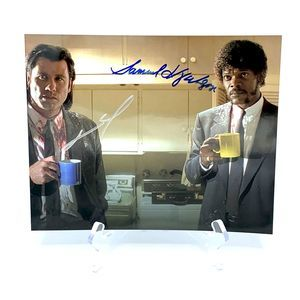 Autographed JOHN TRAVOLTA / SAMUEL JACKSON photo